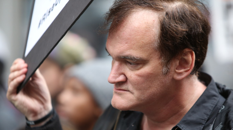 Quentin Tarantino på politiprotest