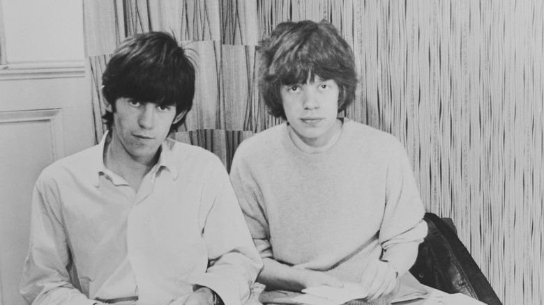 Unge Mick Jagger og Keith Richards