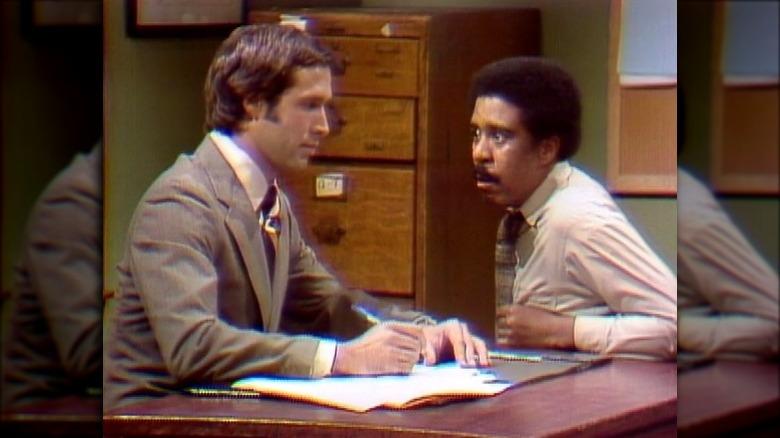 "Chevy Chase og Richard Pryor i ""Word Association"" SNL-skisse"