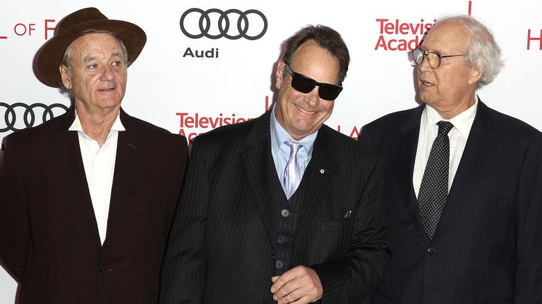 Bill Murray, Dan Ackroyd og Chevy Chase på rød løper