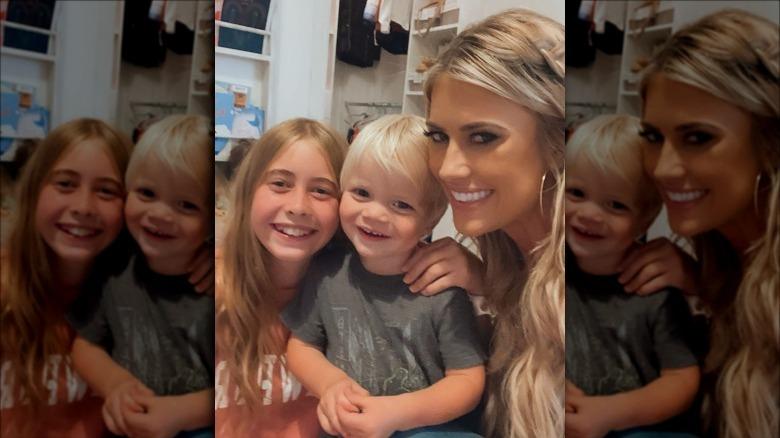 Christina Haack selfie med barn