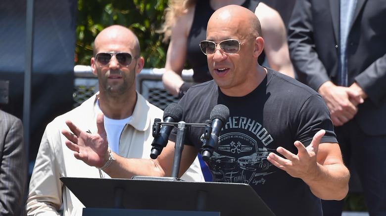 Jason Statham og Vin Diesel