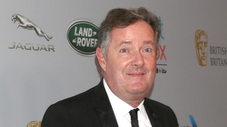 Piers Morgan på den røde løperen.