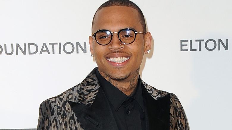 Chris Brown smiler