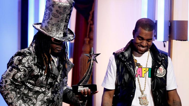 T-Pain og Kanye West i 2008