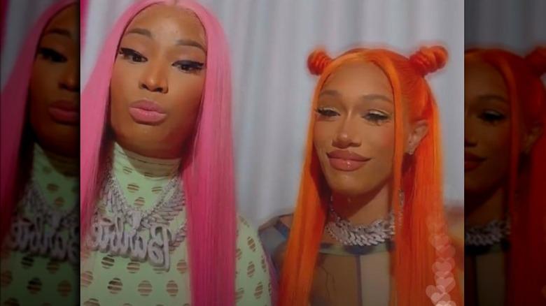 Nicki Minaj og BIA på Instagram Live