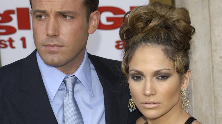 Ben Affleck og Jennifer Lopez rynker pannen