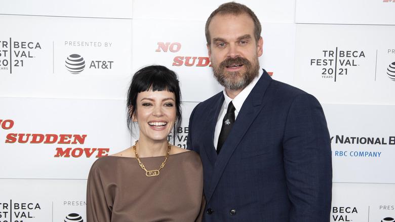 Lily Allen og David Harbour på Tribeca-festivalen i 2021