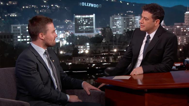 Stephen Amell og Jimmy Kimmel