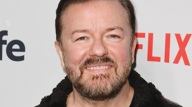 Ricky Gervais på et Netflix-arrangement