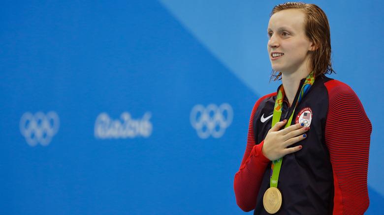 Katie Ledecky vinner OL i Rio 2016 200 m fri
