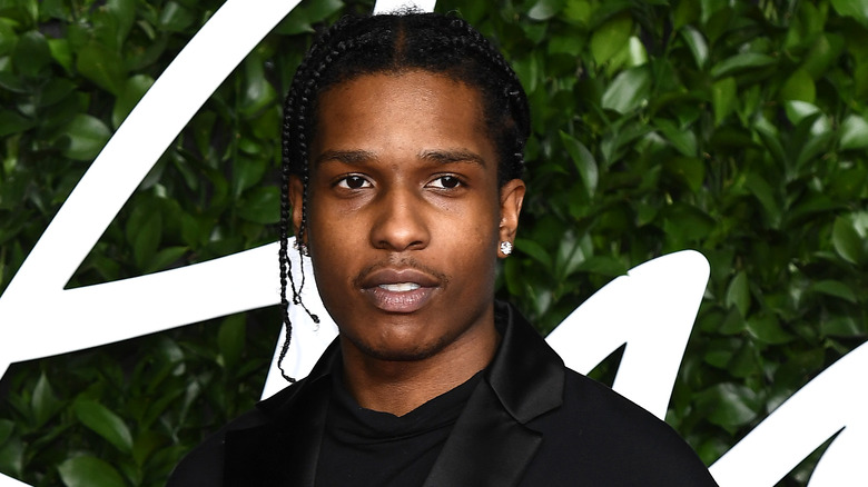 ASAP Rocky ankommer The Fashion Awards 2019