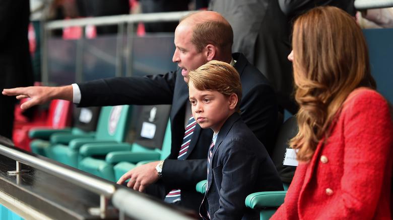 Prins George i Euro 2020-finalen