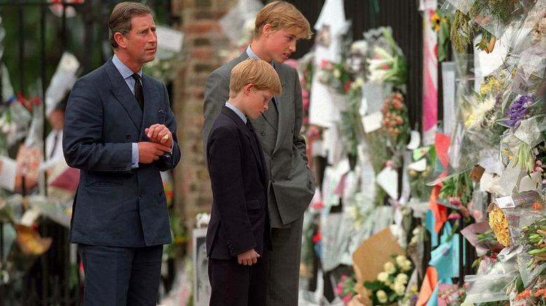william harry diana begravelsesblomster