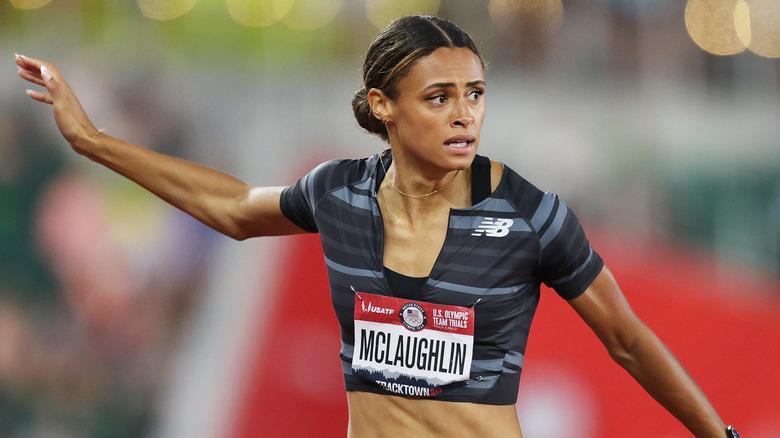 Sydney McLaughlin racing på arrangementet