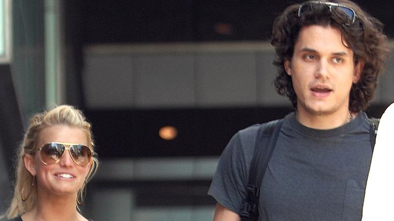Jessica Simpson og John Mayer på flyplassen