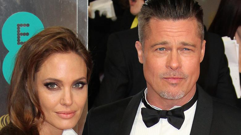 Brad Pitt og Angelina Jolie på et rødt teppearrangement