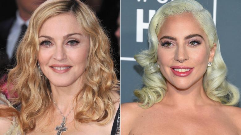 Madonna og Lady Gaga
