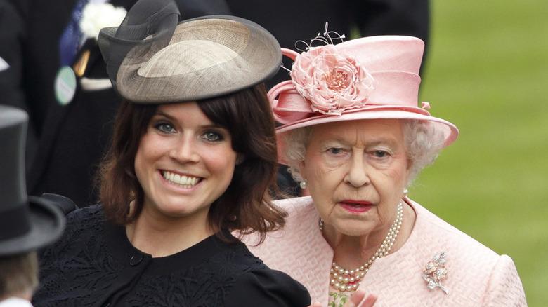 prinsesse eugenie vinke dronning Elizabeth