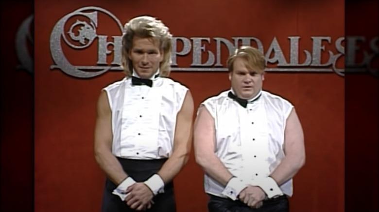 Patrick Swayze og Chris Farley på SNL