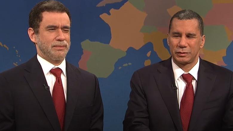 David Paterson og Fred Armisen på SNL