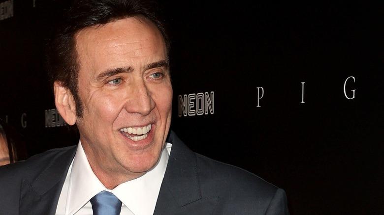 Nicolas Cage på premieren til Neon's
