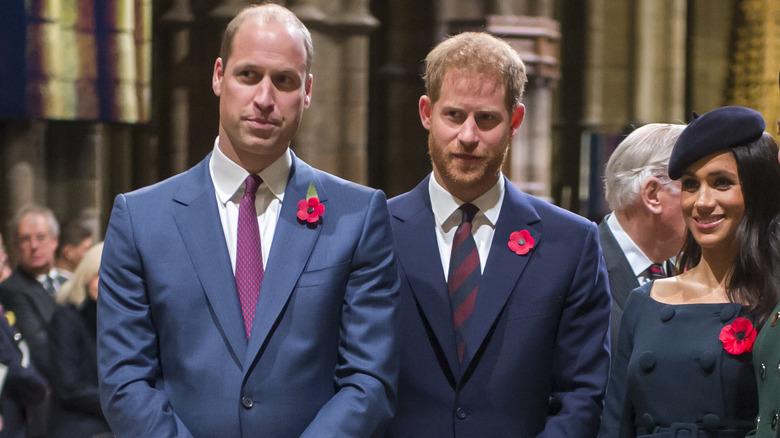 Prins William, prins Harry og Meghan Markle