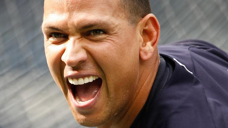 Alex Rodriguez Yankees på flaggermus