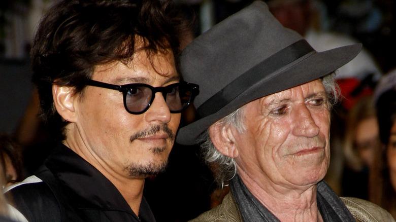 Johnny Depp og Keith Richards