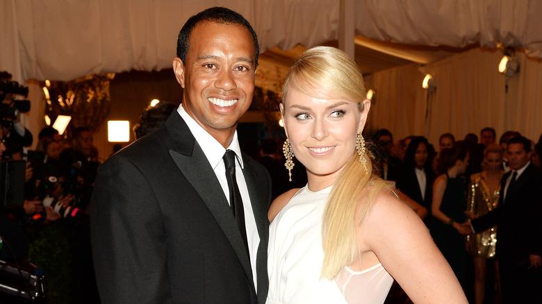 Tiger Woods og Lindsey Vonn på den røde løperen