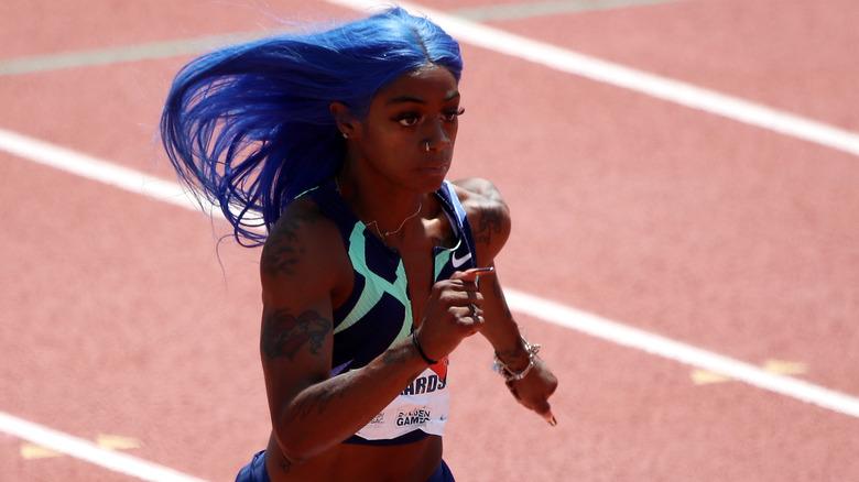 Sha'Carri Richardson har blått hår