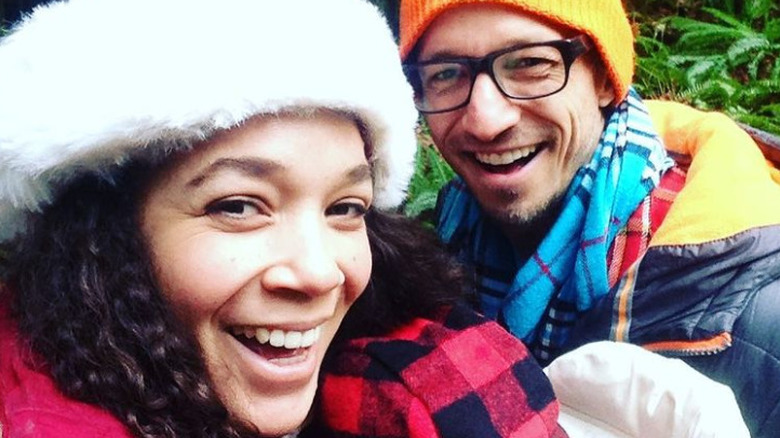 Caitlin og Bradley Stryker i en selfie