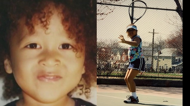 Naomi Osaka som barn