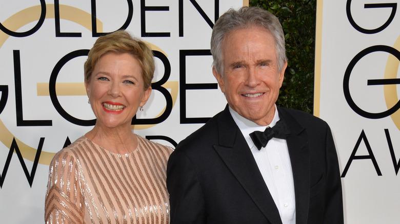 Annette Bening og Warren Beatty på Golden Globes