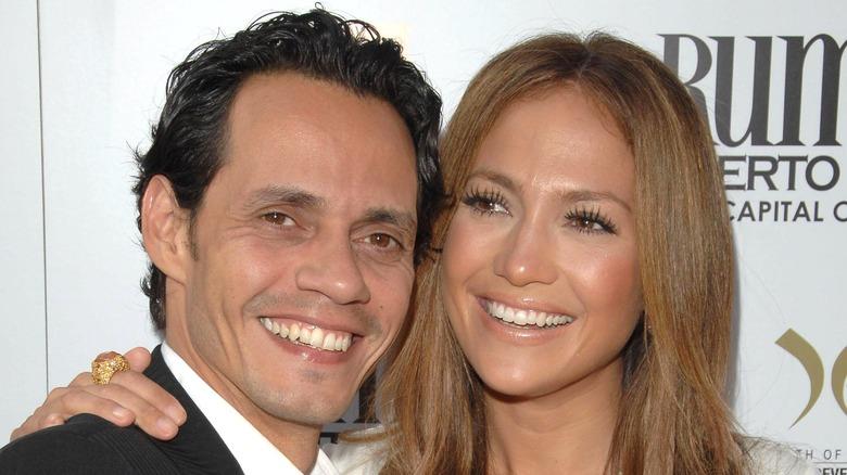 Marc Anthony og Jennifer Lopez på et arrangement