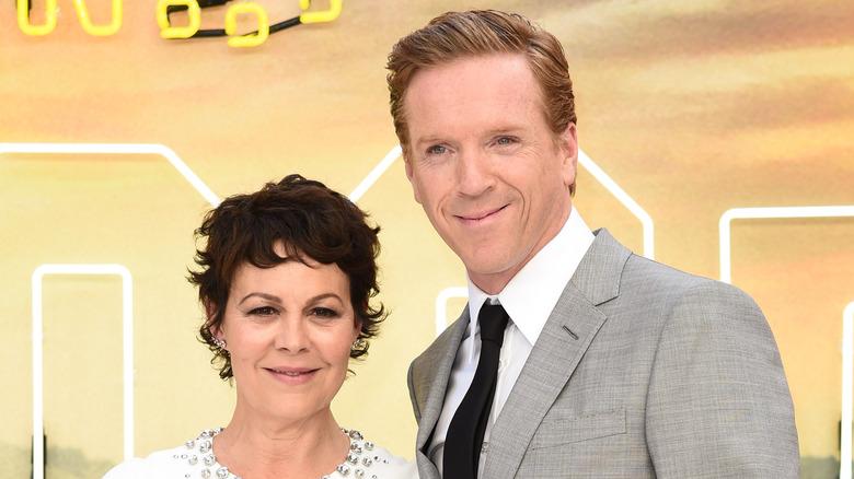 Damian Lewis og Helen McCrory smilte på en filmpremiere