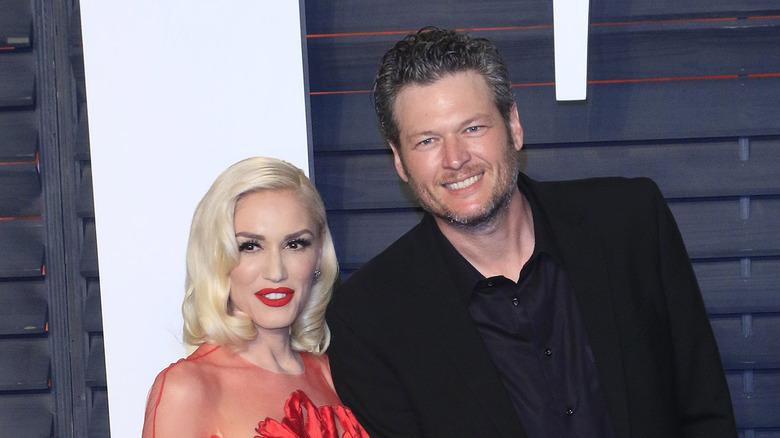 Gwen Stefani og Blake Shelton på 2016 Vanity Fair Oscar Party
