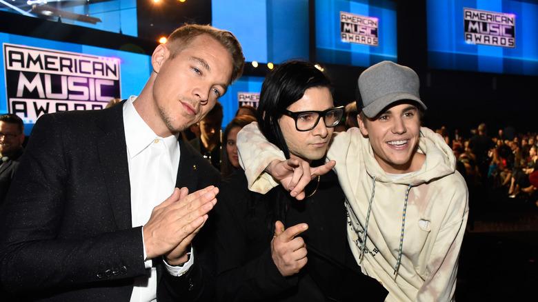 Skrillex, Diplo, Justin Biber, Los Angeles, 2015