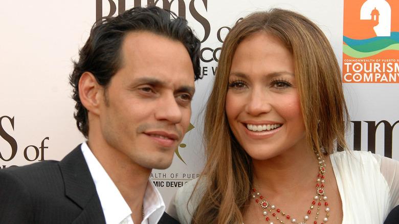 Marc Anthony og Jennifer Lopez på den røde løperen