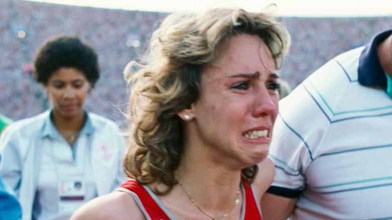 Mary Decker i tårer