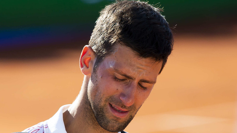 Novak Djokovic gråter