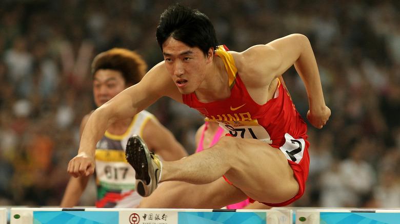 Liu Xiang hopper en hindring