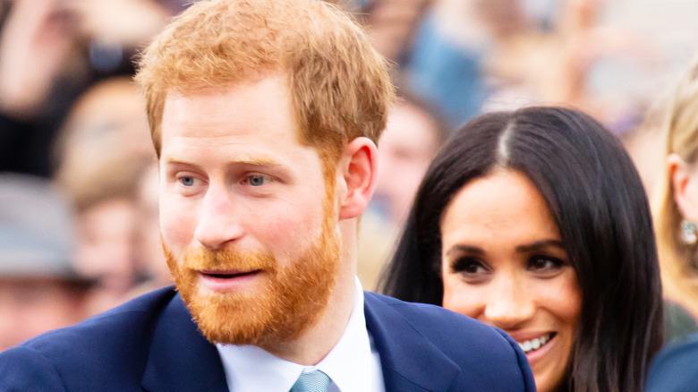 Prins Harry med Meghan Markle i Melbourne