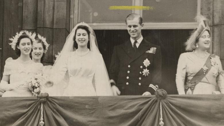 Medlemmer av den kongelige familien etter Elizabeths bryllup med Philip
