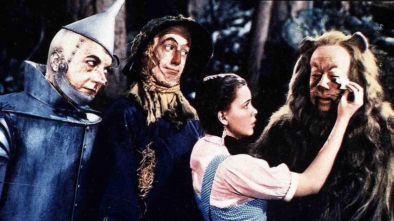 Dorothy, Lion, Scarecrow, Tin Man