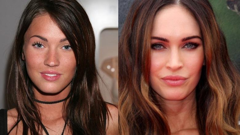 Megan Fox side om side-sammenligning