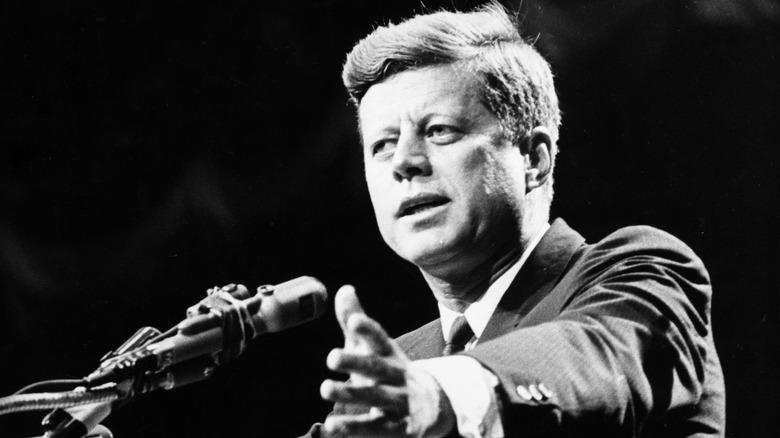 President John F. Kennedy snakket 1962