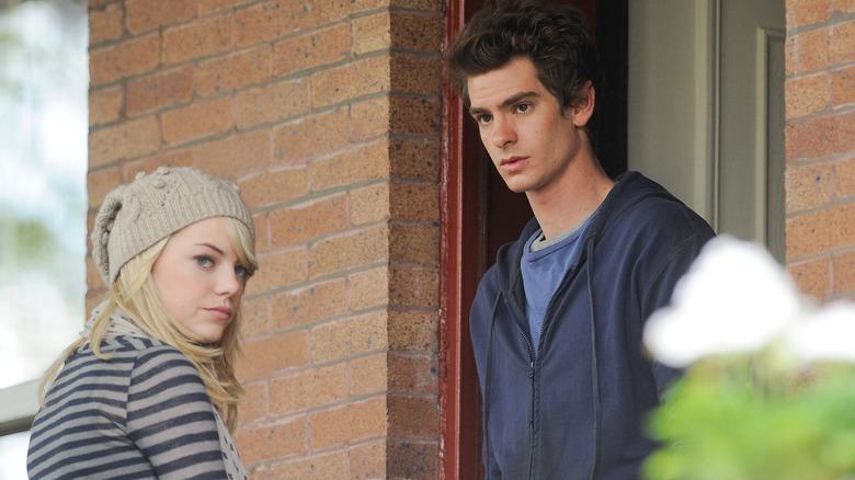Emma Stone og Andrew Garfield ser trist ut