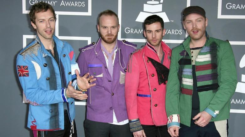 Coldplay på den røde løperen