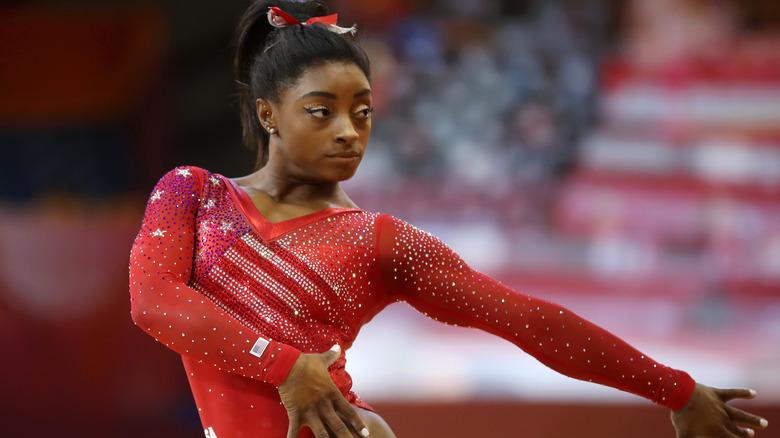 Simone Biles konkurrerer